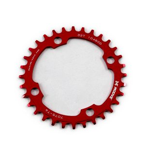 Red anodised chainrings.