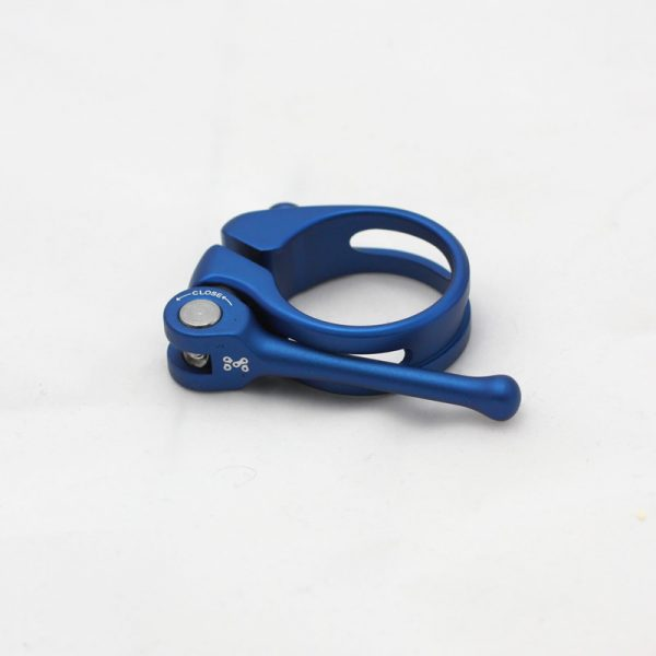 blue  anodised quick release seatclamp